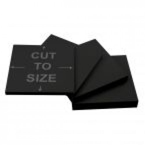 Cut-to-Size Black Acrylic Sheet
