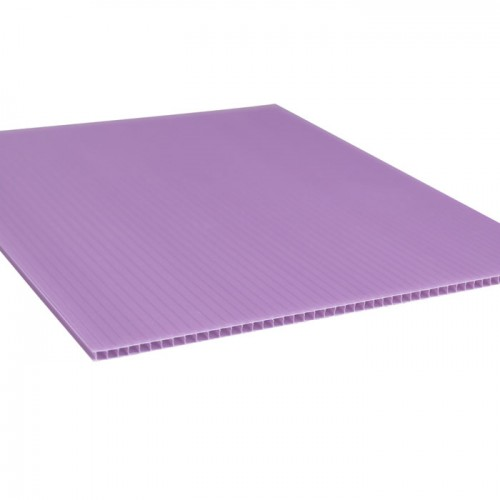 Purple Polypropylene Corrugated Coroplast Sheet