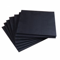 Black PP Corrugated Corriflute Board